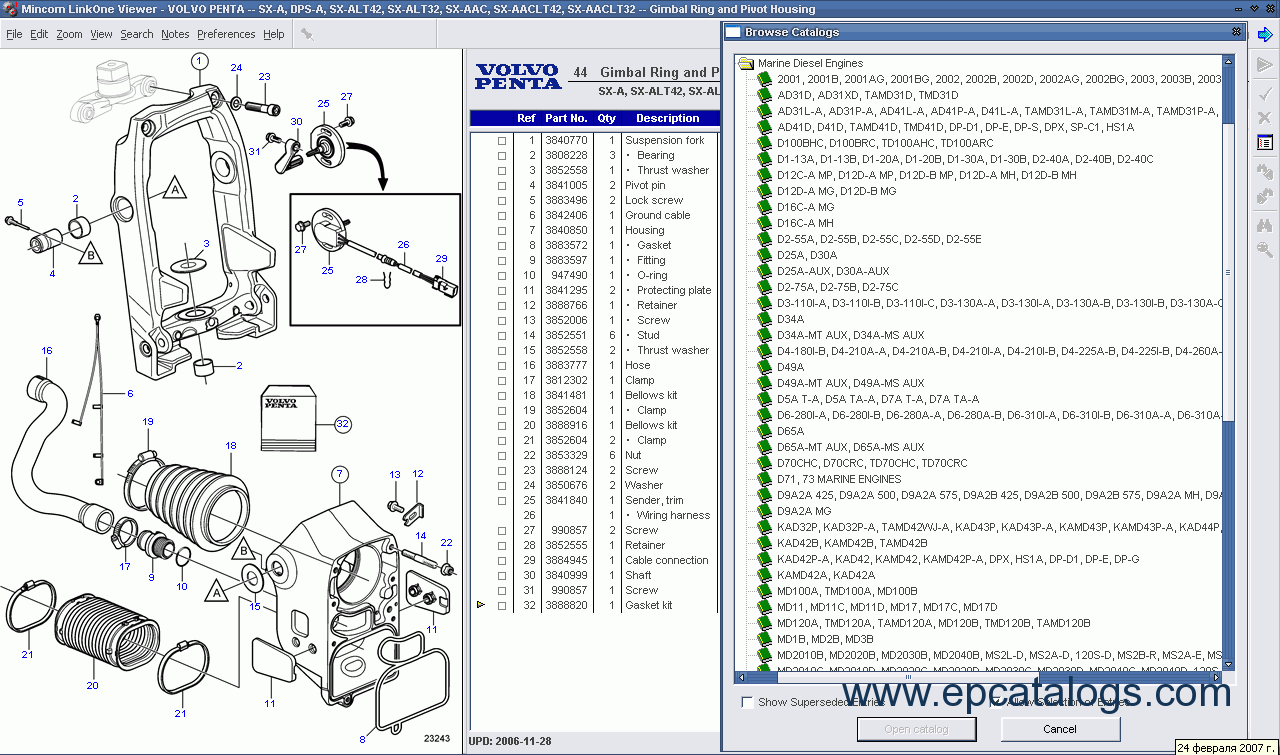 Volvo Penta 2012 Spare Parts Catalog Download Vn Wiring Harness Enlarge