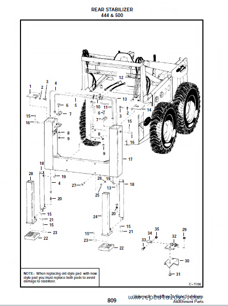 Bobcat backhoe 911 Parts manual