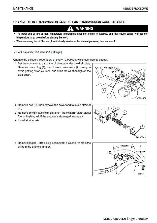 download komatsu hd605 5 hd 605 dump truck service repair workshop manual