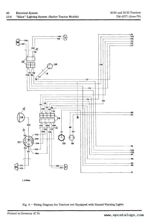 john deere 3030 3130 tractors tm4277 technical manual pdf john deere 3130 lights wiring diagram ford light wiring diagram  at n-0.co
