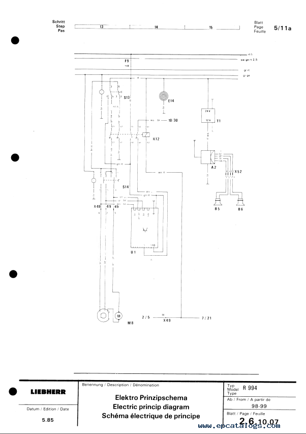liebherr r 994 excavator service manual pdf