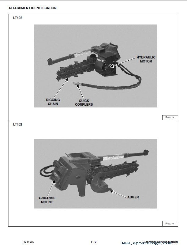 Bobcat Mx Lt A Trencher Service Manual Pdf