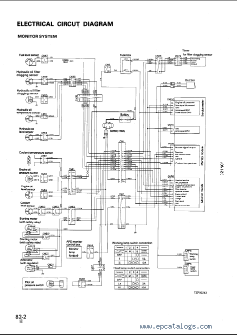 komatsu dozer d21 wiring diagram komatsu hydraulic excavator pc1000-1, repair manual komatsu pc 120 wiring schematics