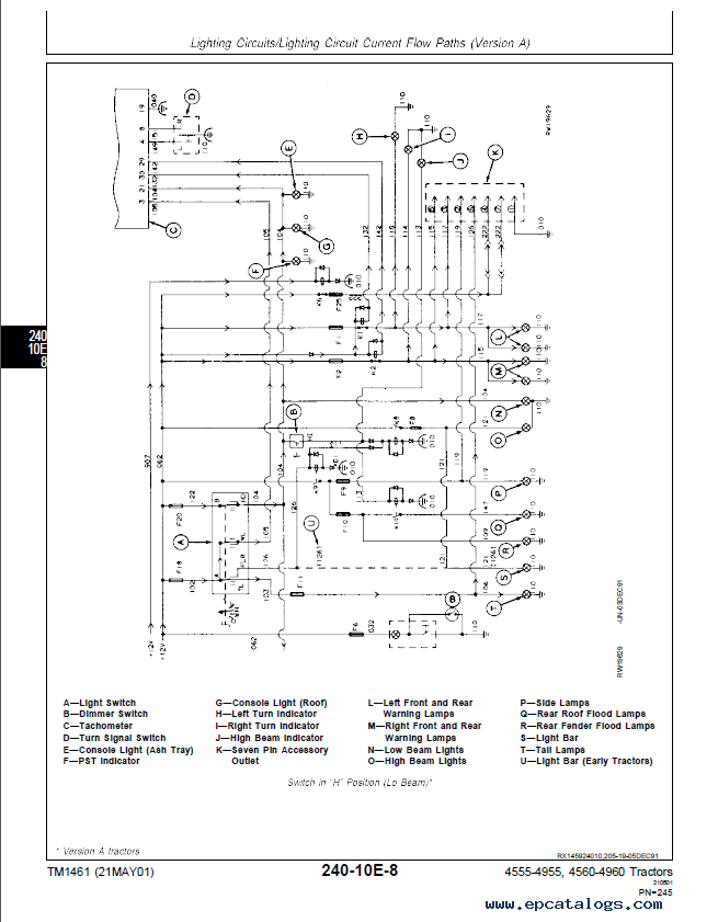 john deere 4555 4755 4955 and 4560 4760 4960 tractors tm1461 pdf manual wiring diagram for a john deere 316 in color readingrat net john deere 316 wiring diagram pdf at n-0.co