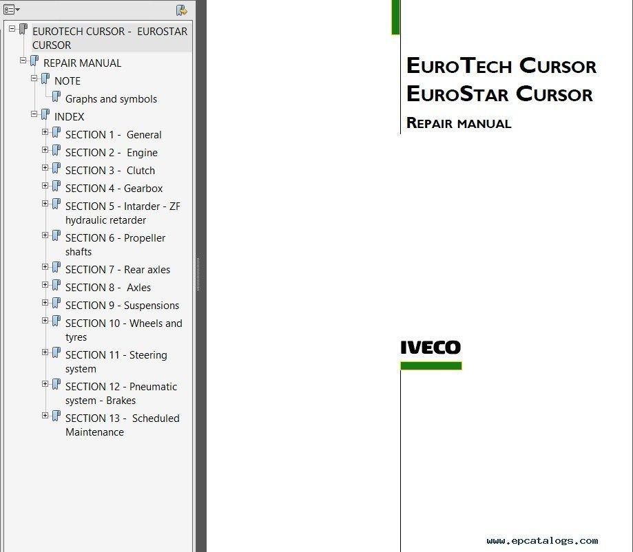 iveco eurotrakker eurotech eurostar cursor 8 10 13 pdf rh epcatalogs com iveco cursor 8 service manual manual de motor iveco cursor 8