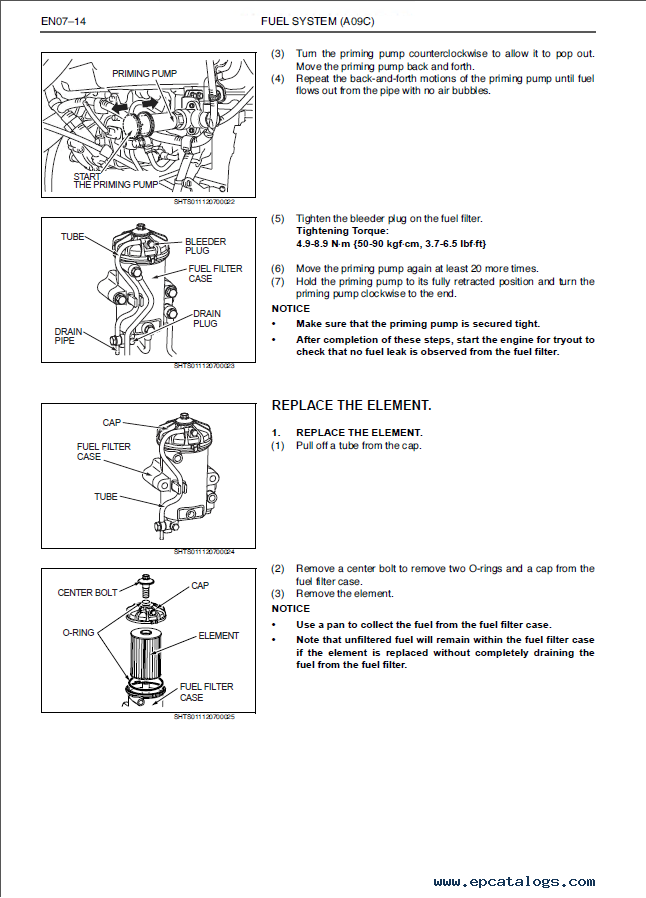 Hino bus engine repair Manual