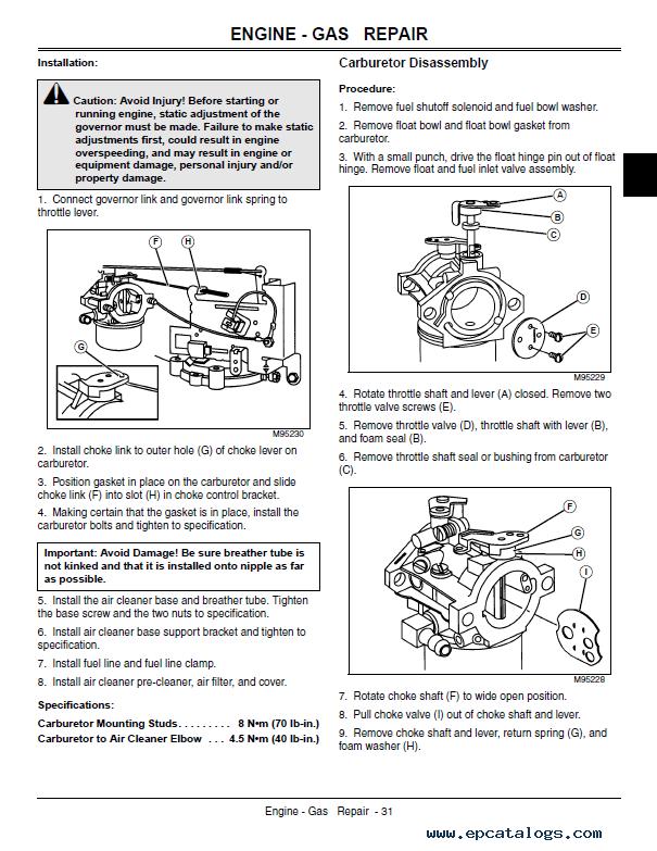 john deere la130 la140 la150 lawn tractor tm2371 pdf rh epcatalogs com john deere la140 manual free john deere la 140 service manual