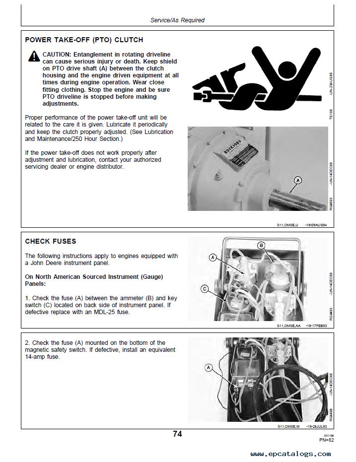 john deere 9400 combine manual