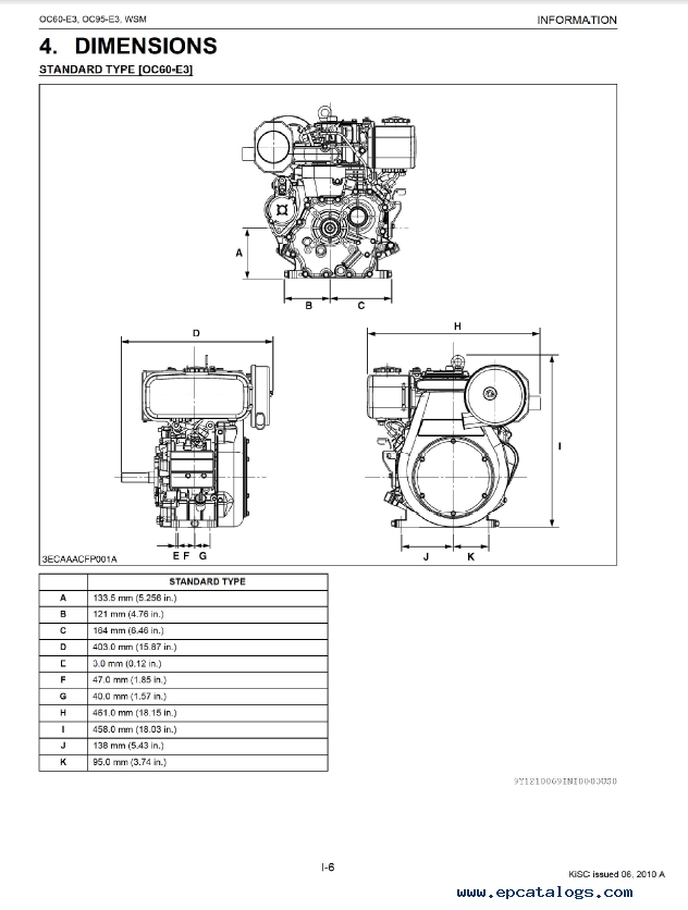 kubota oc60 e3 oc95 e3 engine shop manual pdf 9y111 00691 rh epcatalogs com Basic Diesel Engine Diagram Car Engine Diagram