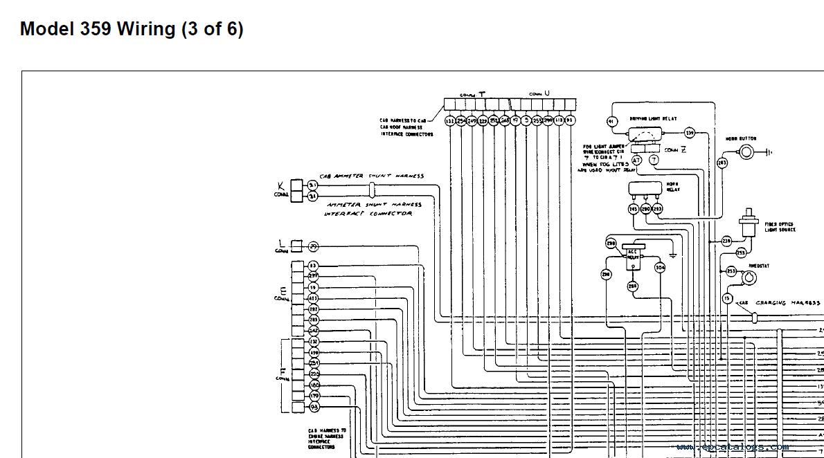 Peterbilt Model 359 Electrical Wiring Schematics Manual PDFEPCATALOGS