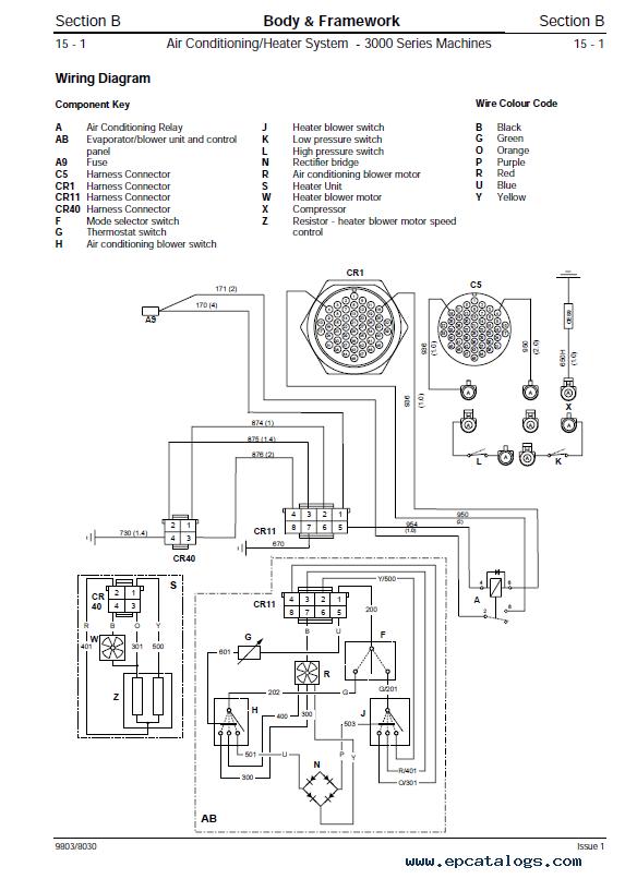 Jcb Tractors Fastrac 3170 3190 3200, Jcb Wiring Diagram Key
