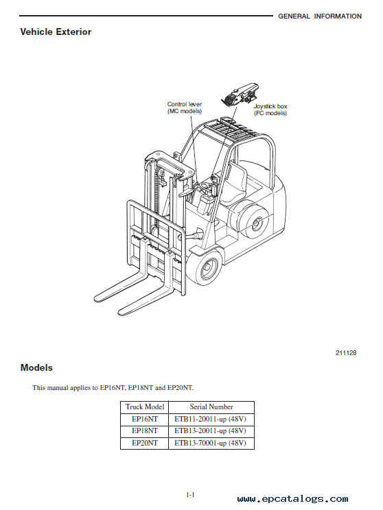 caterpillar ep16nt ep18nt ep20nt forklifts pdf manual