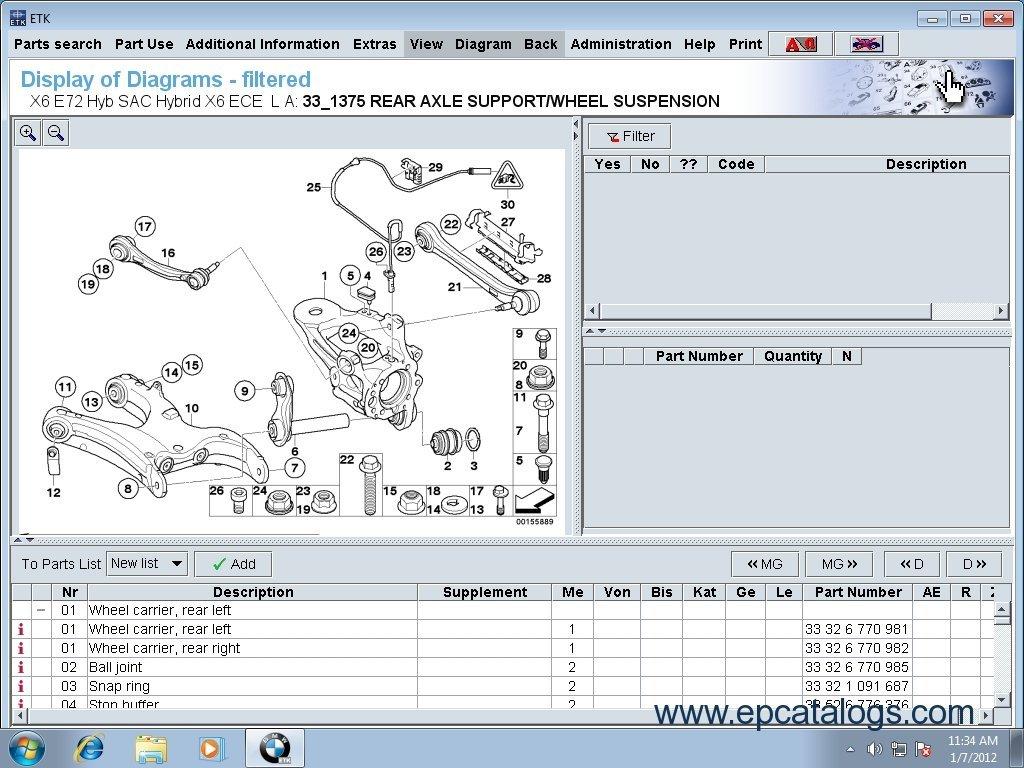 Bmw Mini Rolls Royce Etk Spare Parts Catalog Download