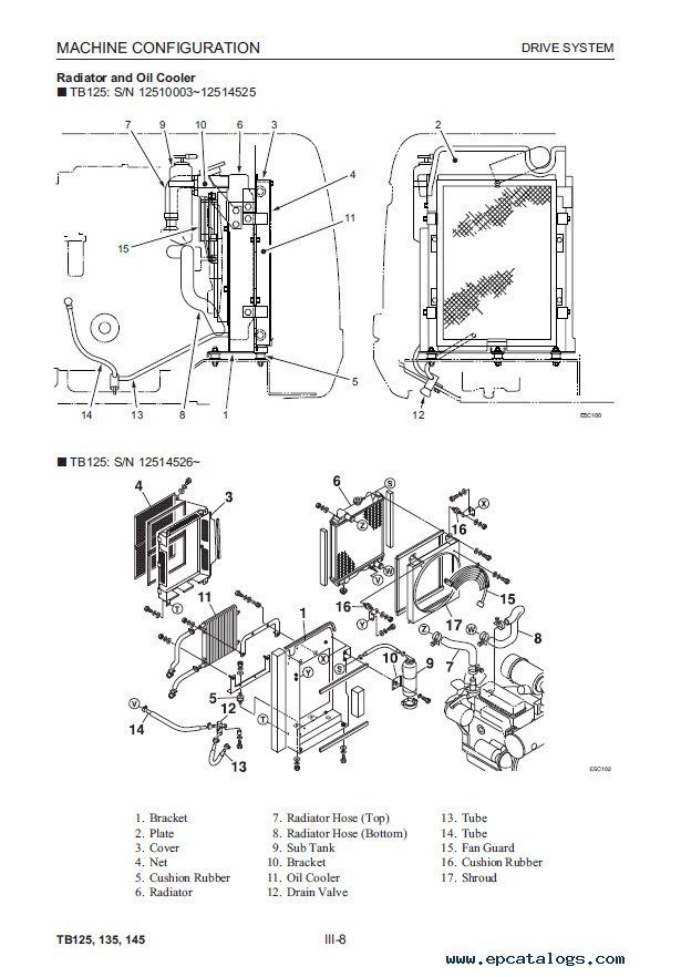 takeuchi tb125 tb135 tb145 compact excavator workshop manual pdf enlarge