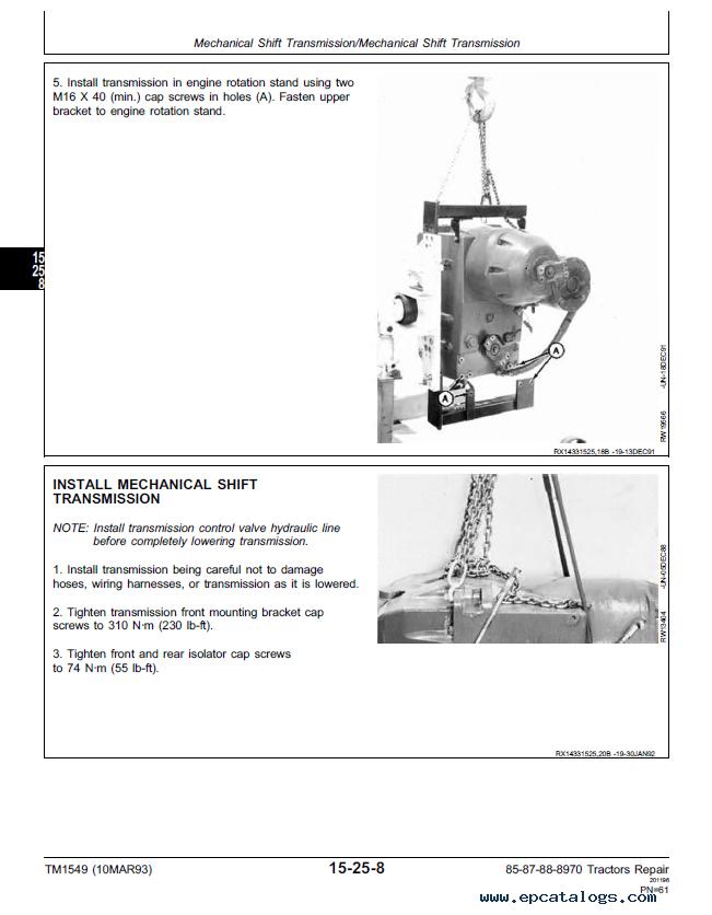 John Deere 336 Service manual