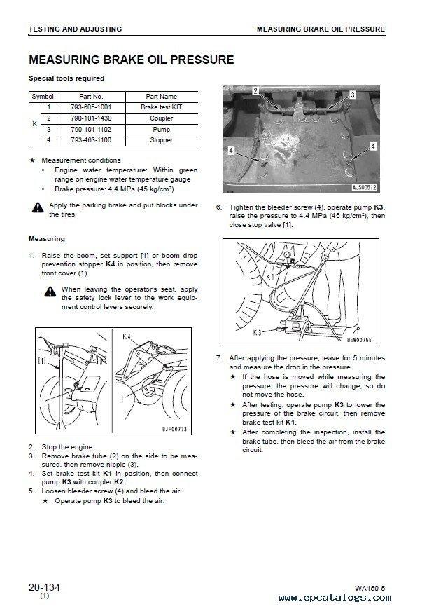 Komatsu Parts Manual 150 5