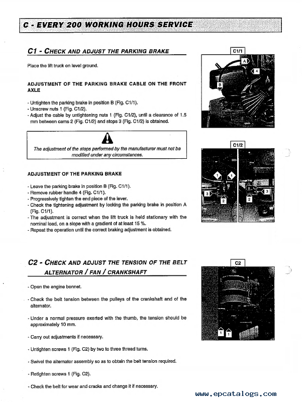 Manitou Forklift Spare Parts Catalogue  Repair Manuals