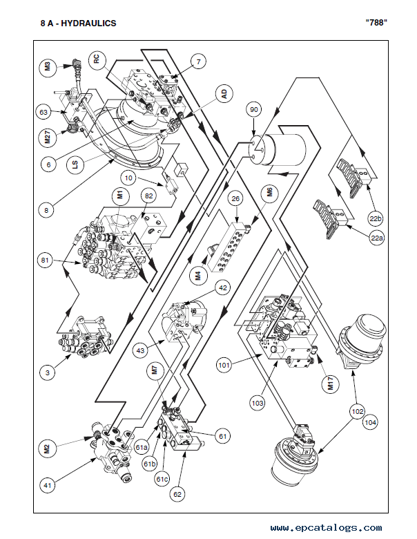 Case 788pc Powersensor Hydraulic Excavators Pdf Manual