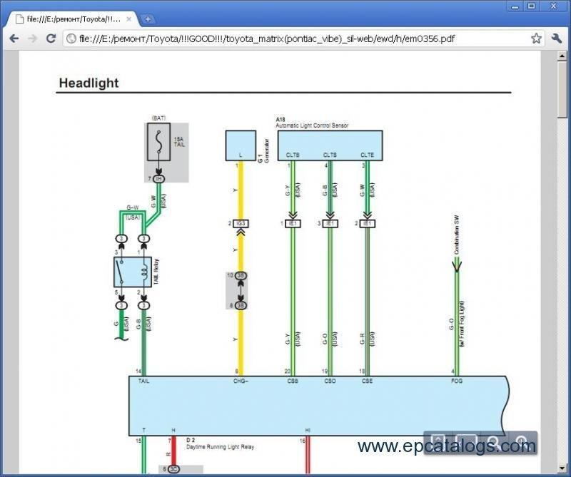 toyota matrix repair manual download