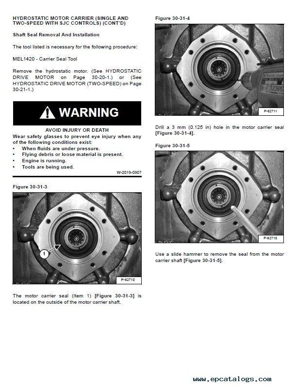 Bobcat S185 Skid Steer Loader Service Manual PDF
