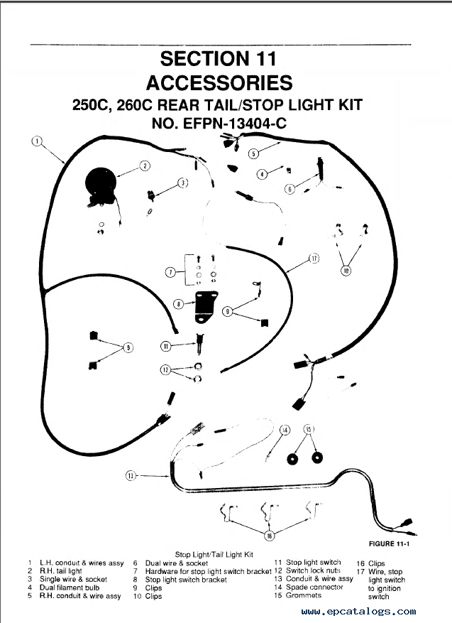 New Holland Ford 345D 445D 545D 250C 260C Tractor Loader Service Manual on