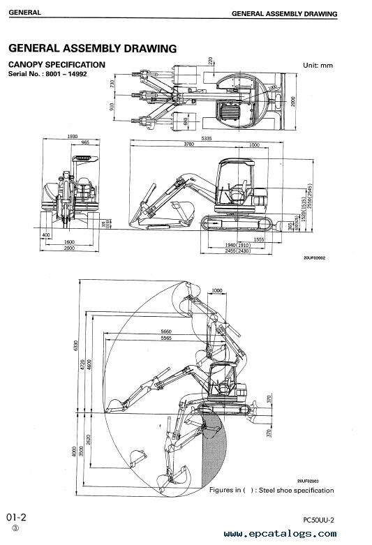 Komatsu Hydraulic Excavator Pc50uu