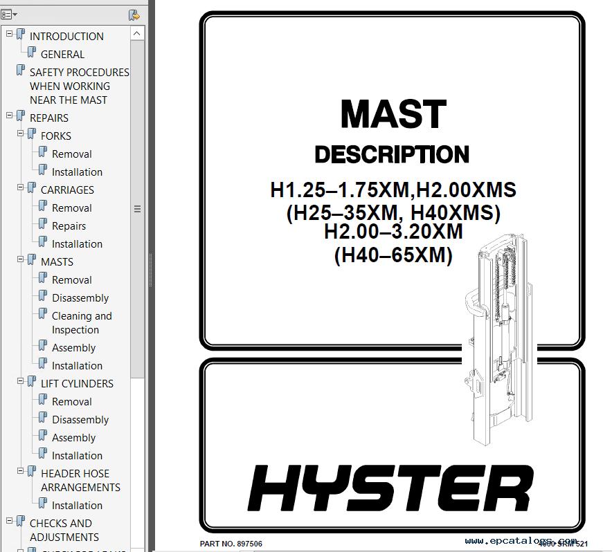 hyster class 4 d187 s2