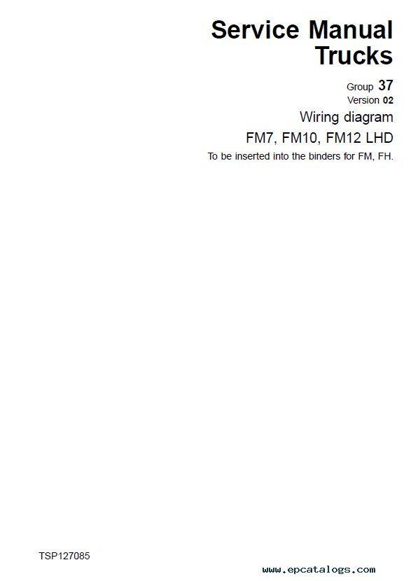 Volvo Trucks FM7/9/10/12, FH12/16, NH12 Wiring Diagrams Manual PDF ...