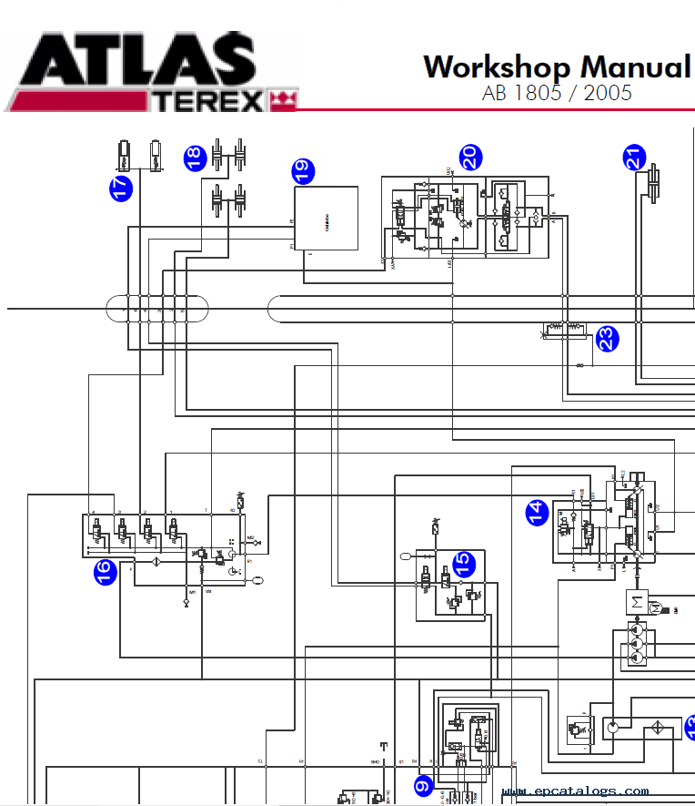 Terex Atlas Excavator Ab 1805  2005 Workshop Manual Pdf