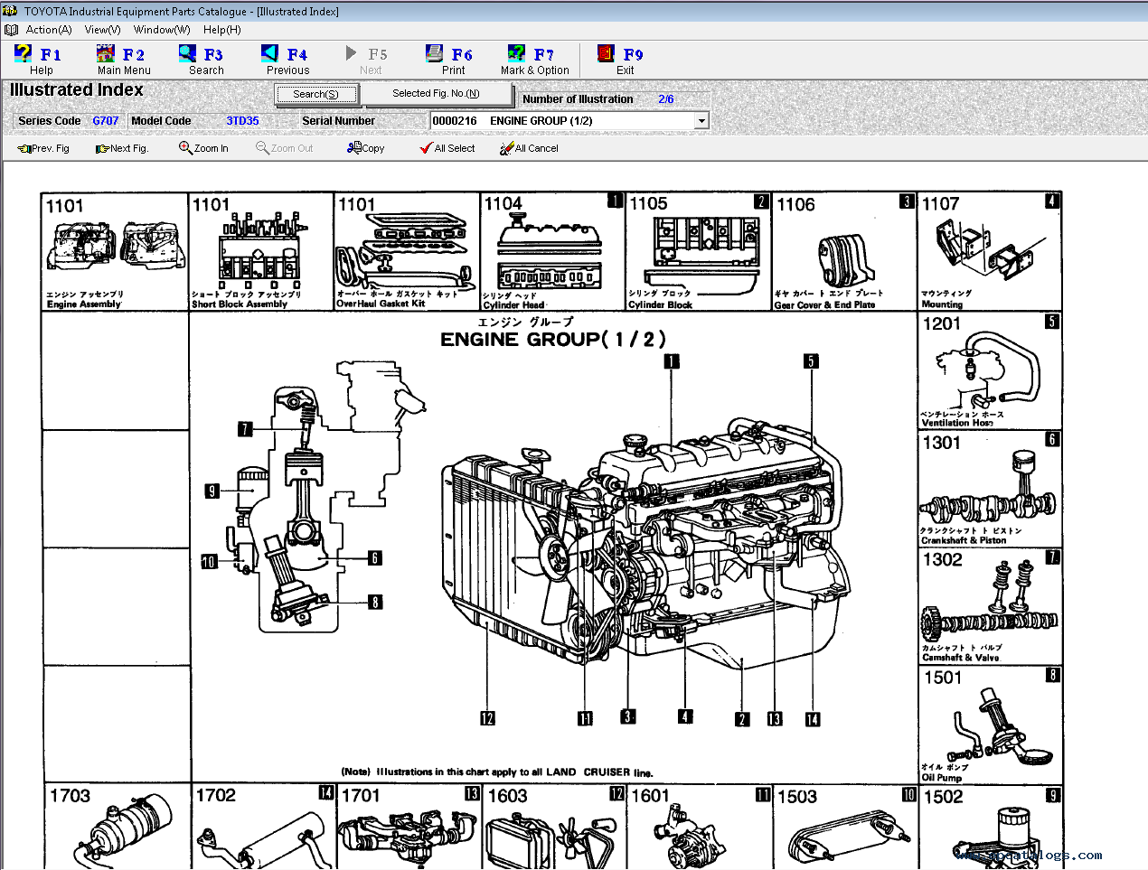 spare parts catalog Toyota Industrial Equipment v1.96 Parts Catalog - 2