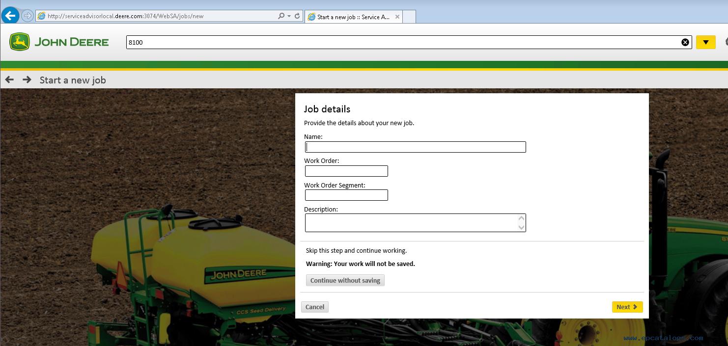 repair manual John Deere Service Advisor 5.2.467 2018 Agriculture Equipment  Division - 1