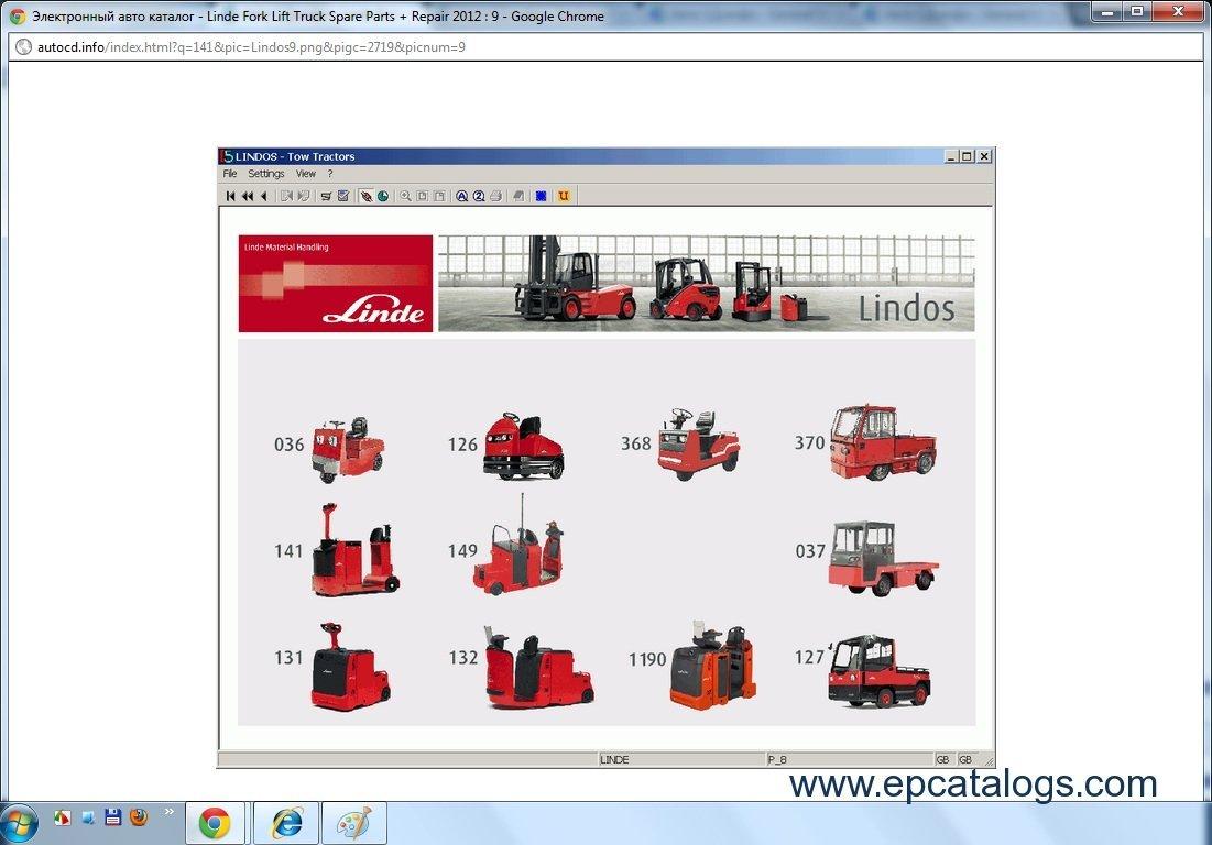 repair manual Linde ForkLift Truck Spare Parts Repair 2012 - 2