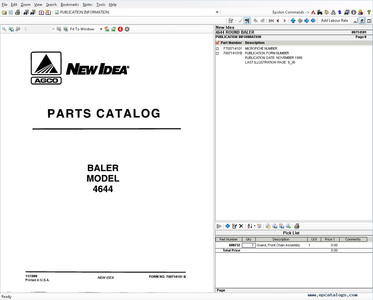 Spare Parts Books and Repair Manuals New Idea