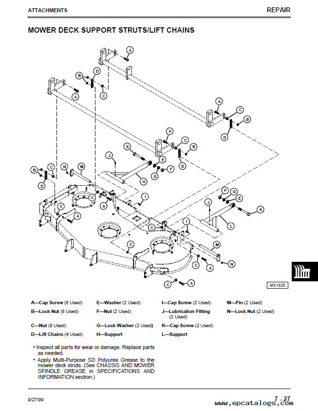 john deere mid mount ztrak m653 m655 m665 tm1778 technical manual pdf wiring diagram for john deere 997 z trak the wiring diagram John Deere Wiring Schematics at creativeand.co