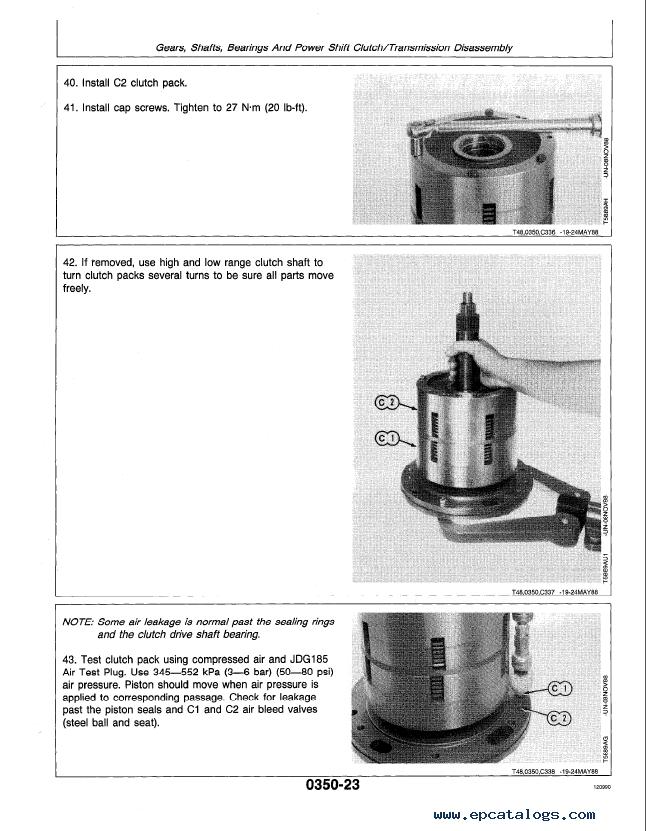 John Deere 640D, 648D Skidders Repair TM1440 Technical Manual PDF on