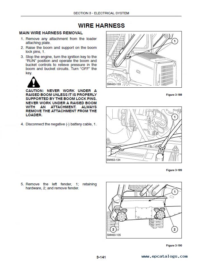 New Holland L465 Lx465 Lx485 Loaders Pdf Manual