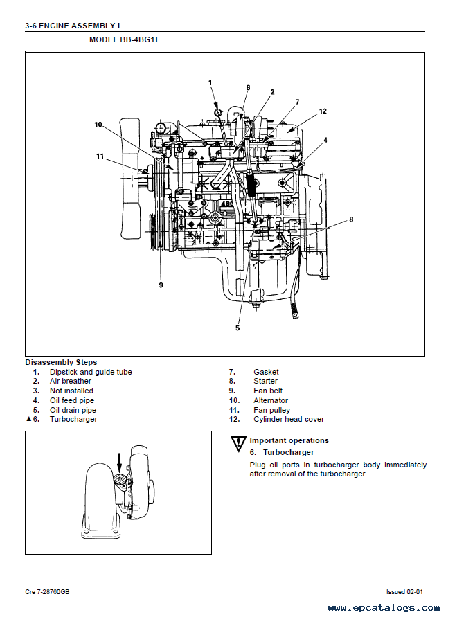 Isuzu Engines BB-4BG1T & BB-6BG1T for Case PDF ManualEPCATALOGS