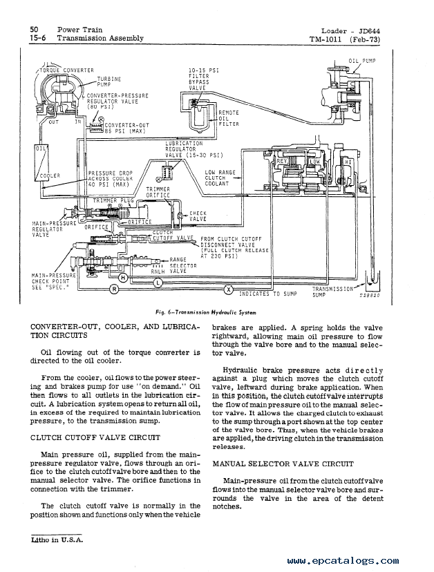 john deere 644b wiring harness diagram john deere jd644 jd644a loader tm1011 technical manual  jd644 jd644a loader tm1011 technical manual