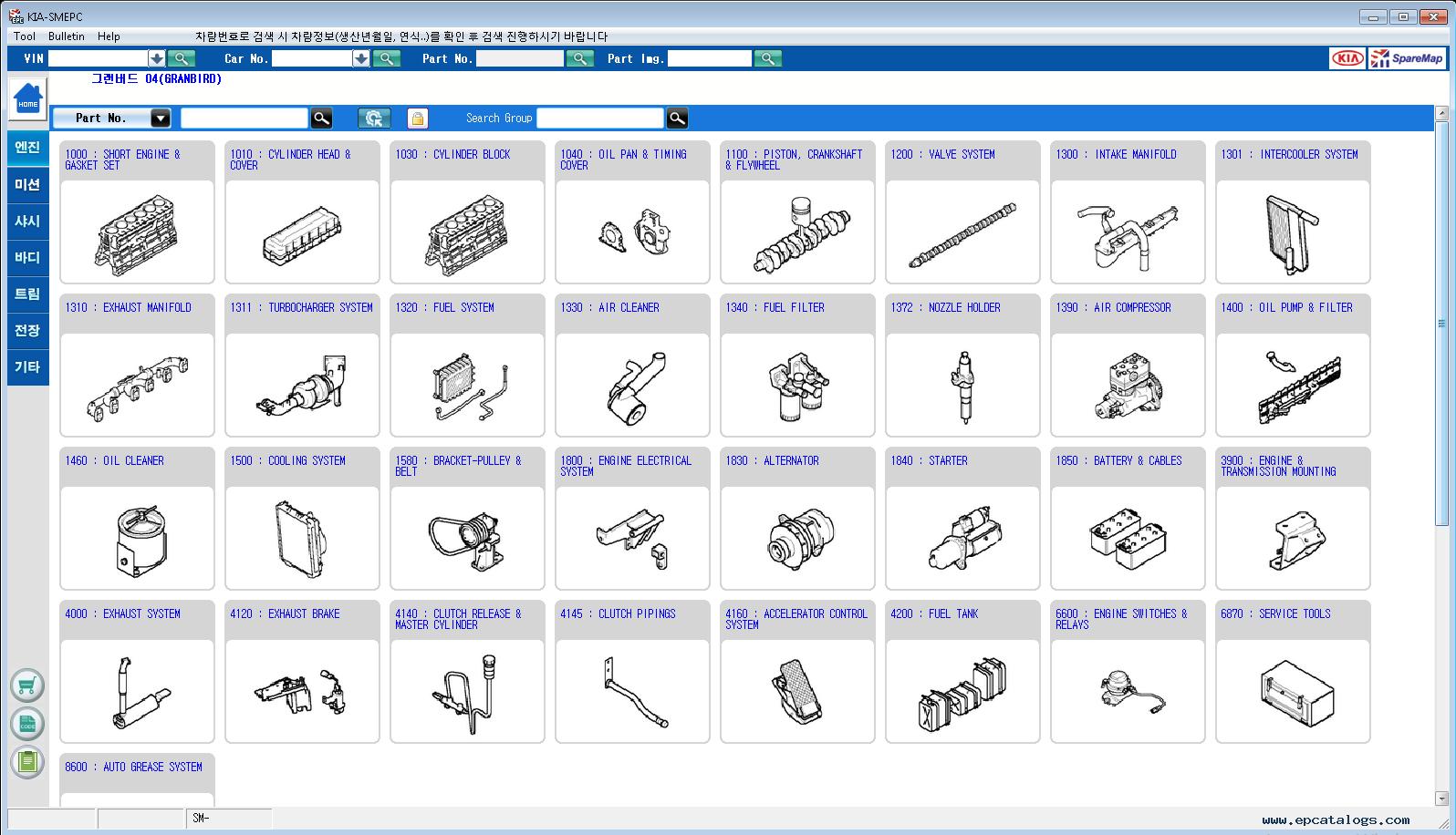 Hyundai Kia Korea 2019 Spare Parts Catalog Download Diagram Domestic Market 1