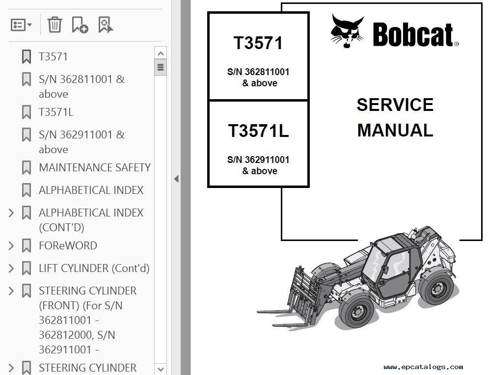 Bobcat t3571 manual