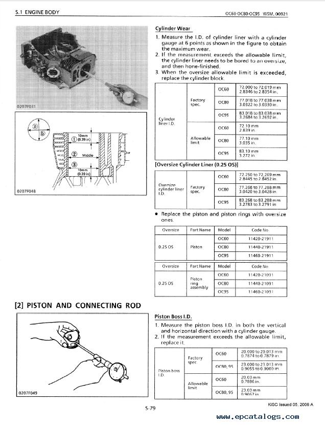 kubota oc60 oc80 oc95 diesel engines workshop manual pdf 9y011 rh epcatalogs com Kubota Tractor Radio Wiring Diagram Kubota Tractor Radio Wiring Diagram