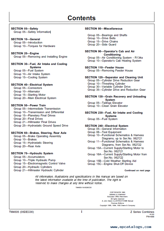 john deere 2054 2056 2058 2064 2066 combines technical manual tm 4505 pdf john deere 2054 2056 2058 2064 2066 combines technical manual  at edmiracle.co