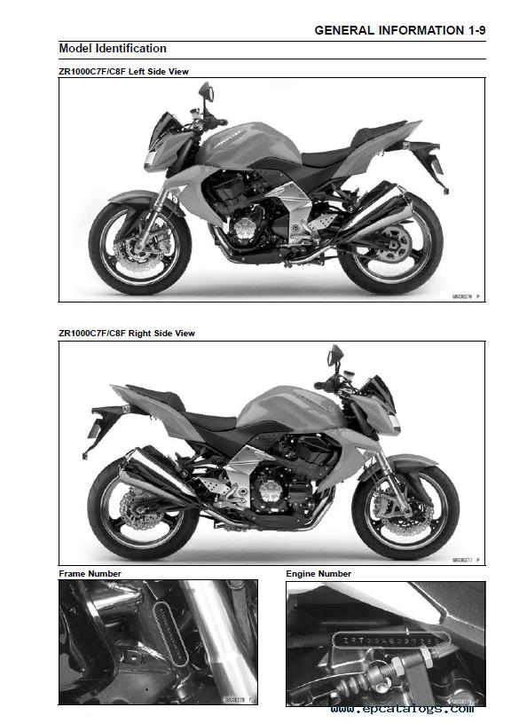 Kawasaki Z1000, Z1000 ABS Motorcycle Service Manual PDF