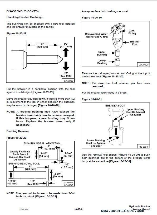 Bobcat Hydraulic Breakers Service    Manual    PDF