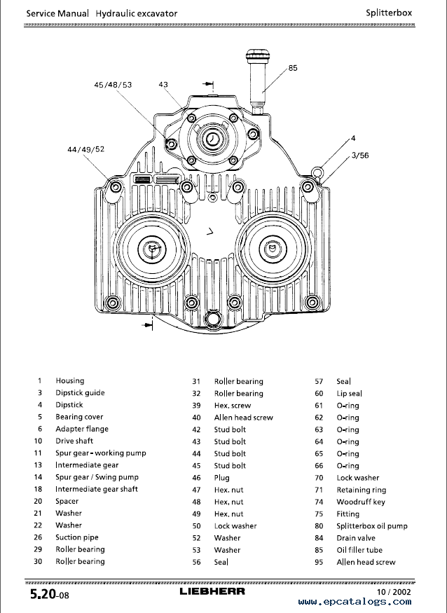 Liebherr A 934 - A 954 B-HD Litronic Hydraulic Excavator Service Manual PDF