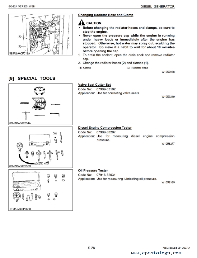 Kubota ae3500 Generator owners manual