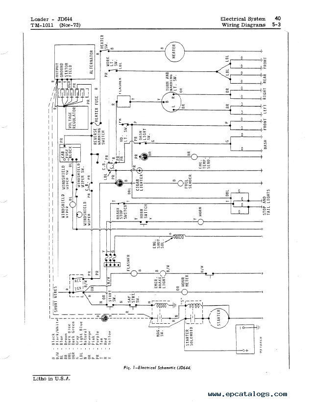John Deere 644b Wiring Harness Diagram