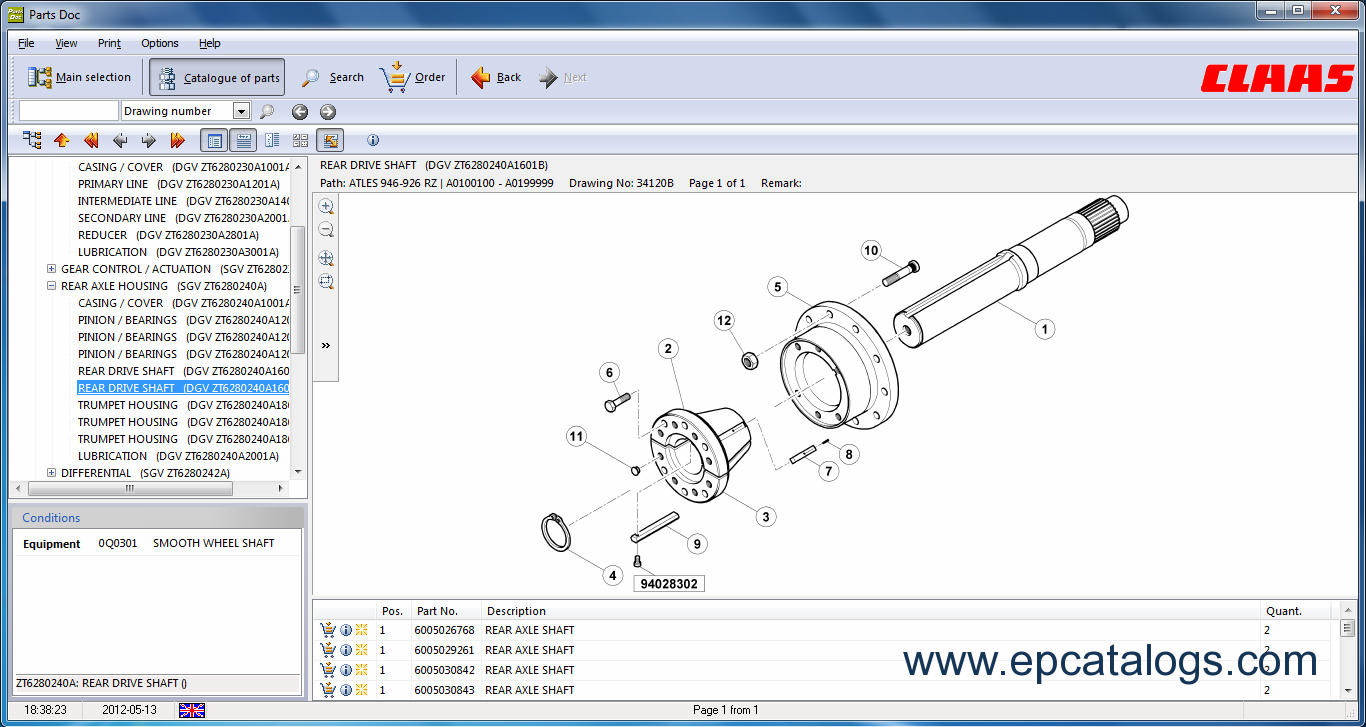 PDF catalog Claas Rollant 44 Spare Parts Catalogue Original Manual