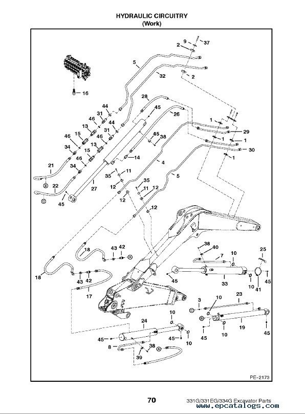 Bobcat 331 331e 334 G Series Excavator Parts Manual