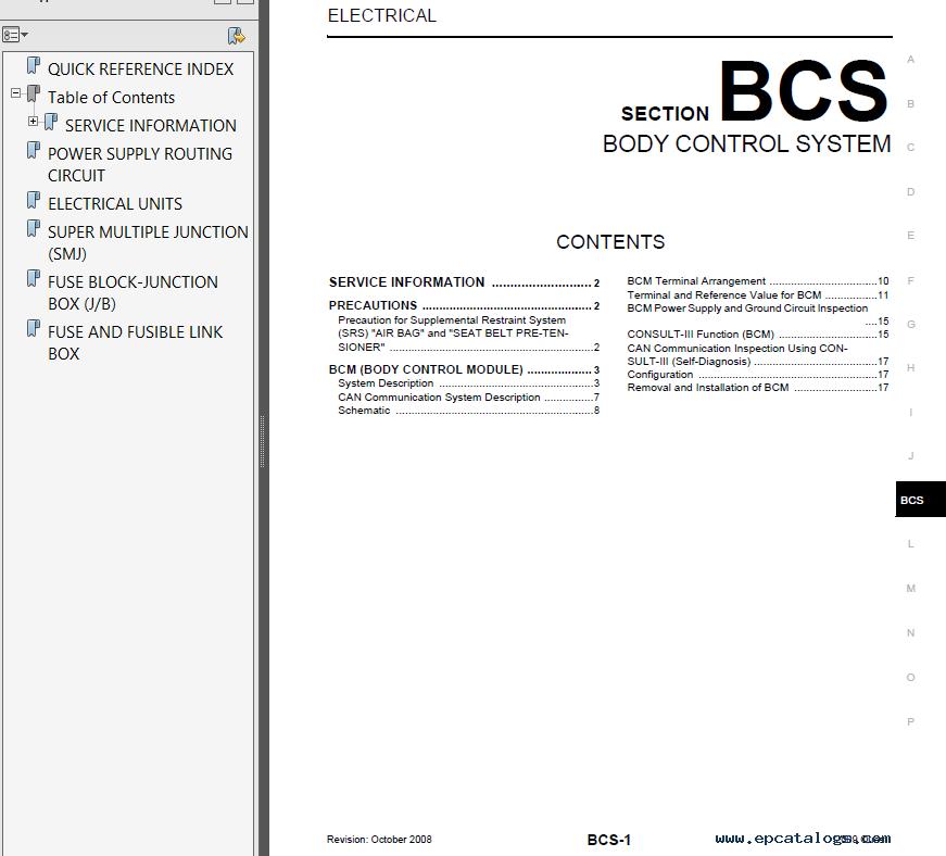 nissan quest model v42 series 2009 service manual pdf rh epcatalogs com Nissan Titan Black Nissan Pathfinder